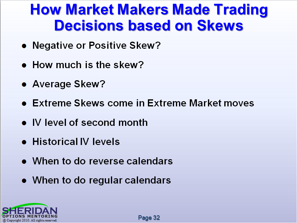 CBOE Webcast on Calendar Skews