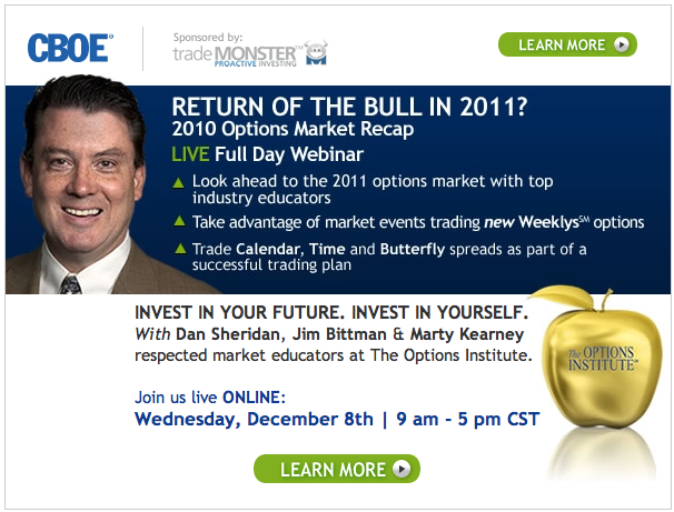 CBOE Webinar Dec 8 with Dan Sheridan, Jim Bittman and Marty Kearney